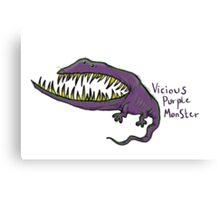 Vicious Purple Monster Canvas Print
