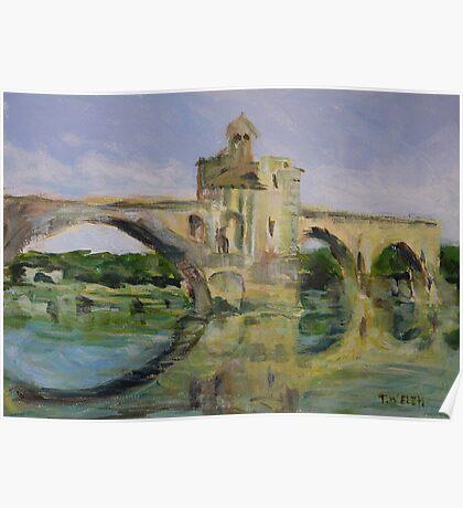 June Morning by Pont D'Avignon Poster
