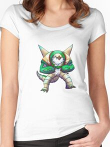 Grass Robot Chipmunk Women's Fitted Scoop T-Shirt