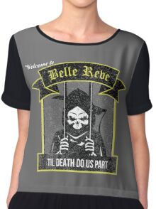 Belle Reve Ispired Logo Chiffon Top