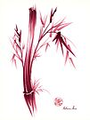 """""""INSPIRE"""" - Original ink brush pen bamboo drawing/painting by Rebecca Rees"""