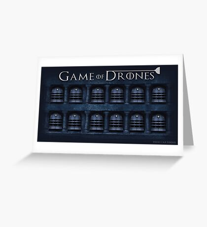 Game of Drones Greeting Card