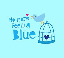 No more feeling blue with cute little bluebird singing by jazzydevil