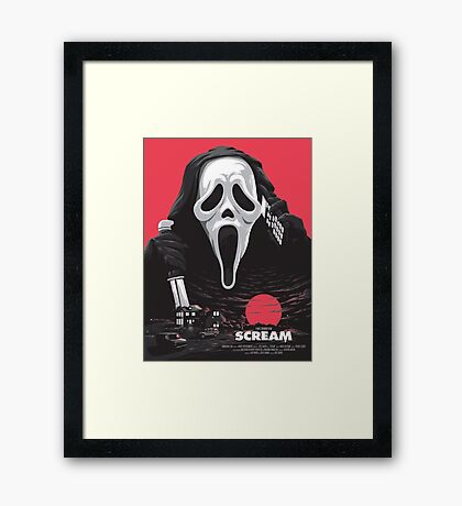 Scream - Welcome to Woodsboro Framed Print