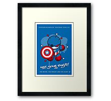 My SUPERCHARGED VOODOO DOLLS CAPTAIN AMERICA Framed Print