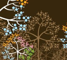 Colorful Four Seasons Trees Sticker
