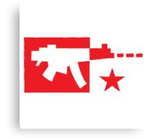 Digial gamer weapon gun distressed Canvas Print