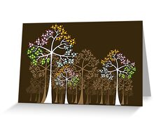 Colorful Four Seasons Trees Greeting Card