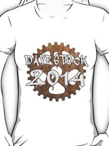 Davestock 2014 - White Text T-Shirt