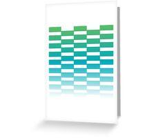 Beautiful Design Blocks Ombre Effect Contemporary Art Greeting Card