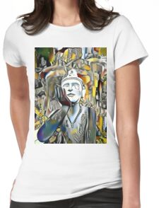 Buddha Asks Why 1 Womens Fitted T-Shirt