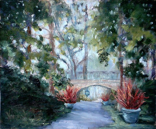 Study for Longwood Gardens Bridge by Monica Vanzant