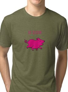 Happy Pig Tri-blend T-Shirt