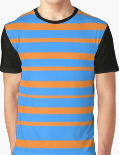 orange and blue striped pattern Graphic T-Shirt