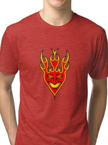 Feuer teufel  Tri-blend T-Shirt
