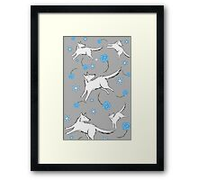 Wolves & Winter Roses Framed Print