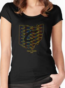 Cavs Finals Champs (Multicolor) Women's Fitted Scoop T-Shirt