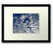 Fluffy Clouds Framed Print