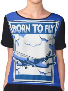 Born to Fly Chiffon Top