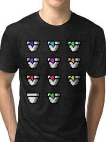 Multi Pixel Cups with Juices Tri-blend T-Shirt