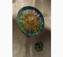 Stylized Sun - Antoni Gaudi's Ceiling Medallion at Hypostyle Room in Park Guell - Left Vertical Unisex T-Shirt
