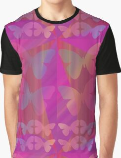 Butterflies in pinks Graphic T-Shirt