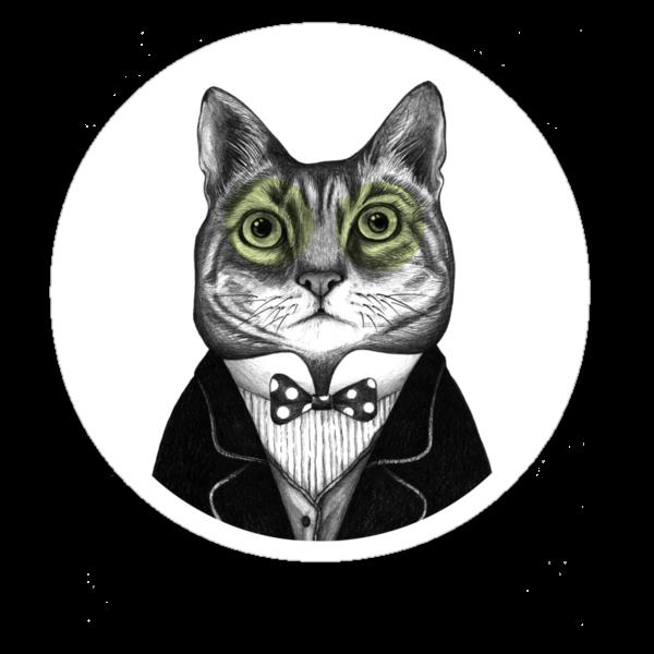 gentleman cat by smalldrawing