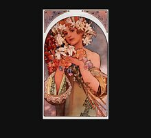 'Flowers' by Alphonse Mucha (Reproduction) Womens Fitted T-Shirt
