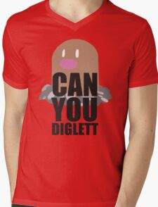 Can You Diglett..... YES YOU CAN! Mens V-Neck T-Shirt