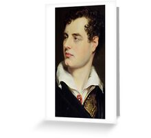 Lord Byron after a Portrait painted by Thomas Phillips in 1814 Greeting Card