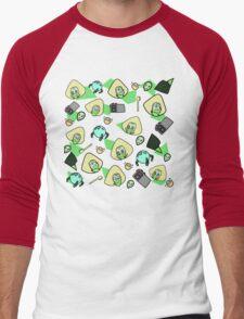 Green girl Men's Baseball ¾ T-Shirt