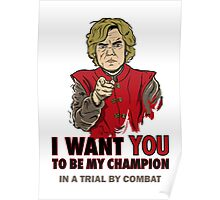 Uncle Tyrion (Red) Poster