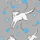 Wolves & Winter Roses by ratgirlstudios