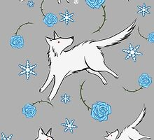 Wolves & Winter Roses by ratgirlstudios