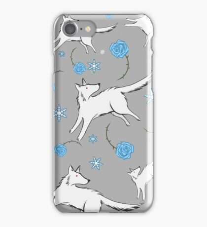 Wolves & Winter Roses iPhone Case/Skin