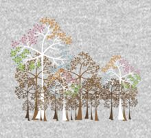 Colorful Four Seasons Trees One Piece - Long Sleeve
