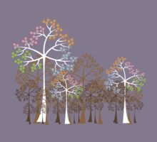 Colorful Four Seasons Trees Kids Tee