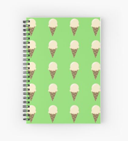 Vanilla Ice Cream Spiral Notebook