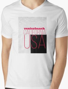 venice beach California USA Mens V-Neck T-Shirt
