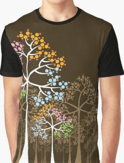 Colorful Four Seasons Trees Graphic T-Shirt