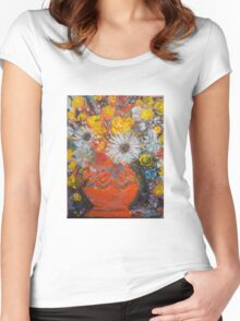 vase of flowers  Women's Fitted Scoop T-Shirt