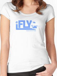 iFLY Helicopter Women's Fitted Scoop T-Shirt