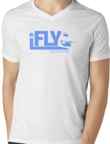 iFLY Helicopter Mens V-Neck T-Shirt