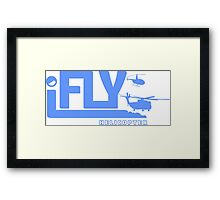 iFLY Helicopter Framed Print