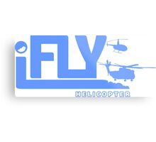 iFLY Helicopter Metal Print