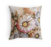 Three dimensional floral Throw Pillow