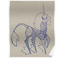 Patchwork Unicorn Poster