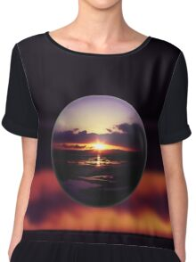 Float on the clouds like a drop of dew and bask in the light of a sunrise view Chiffon Top