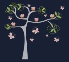 Whimsical Pink Cupcakes Tree One Piece - Long Sleeve