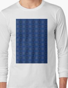 Blue & Black Long Sleeve T-Shirt